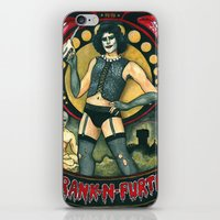 rocky horror iPhone & iPod Skins featuring Frank-N-Furter - Rocky Horror Picture Show by DanaRobinson