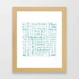 Irish Dance Sets: Turquois Framed Art Print