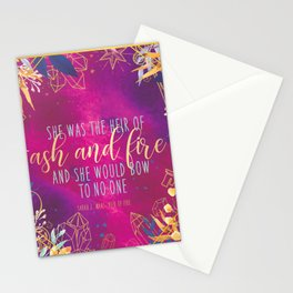 Heir of Fire - Heir of Ash and Fire Quote Stationery Cards