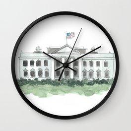 white house watercolor // washington dc architecture president trump Wall Clock