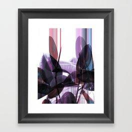 Tropical Glitches Framed Art Print