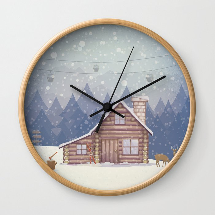 Winter - Let it snow Wall Clock