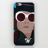 willy wonka iPhone & iPod Skins featuring willy wonka by Mariana Andrea