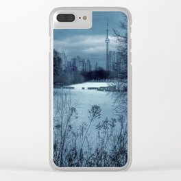 Blue Winter in Toronto Clear iPhone Case
