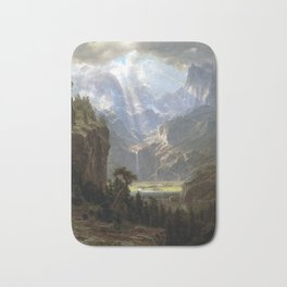 Albert Bierstadt Rocky Mountains, Lander's Peak Bath Mat