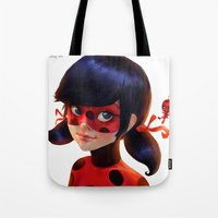 ladybug Tote Bags featuring Ladybug by ChrySsV