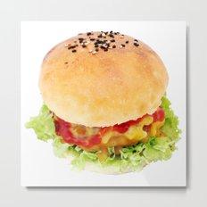 Hamburger Metal Print