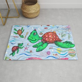 Sea Turtles and their diet Rug