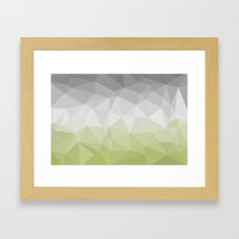 light green and grey polygon Framed Art Print