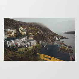 Foggy Day in The Battery, St. John's, Canada Rug