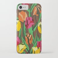 tulips iPhone & iPod Cases featuring Tulips  by Marjolein
