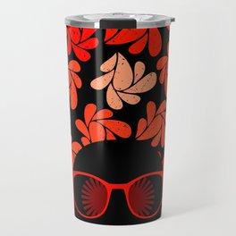 Afro Diva : Coral Red Travel Mug
