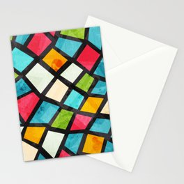 Colorful Mosaic Abstract Stationery Cards