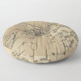 Vintage Boston Revolutionary War Map (1775) Floor Pillow
