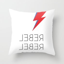 David Rebel Rebel Rock Music Aladdin Sane Bolt Glam Rock Music Throw Pillow