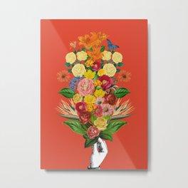 Botanical Red Metal Print