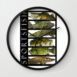Sport Fish of North America Wall Clock