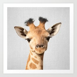 Baby Giraffe - Colorful Art Print