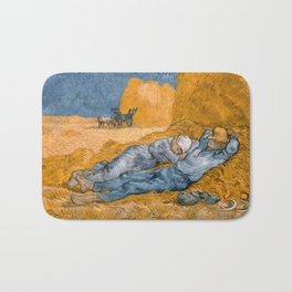 "Vincent van Gogh - Noon Rest From Work (A ""Copy"" of a Jean-François Millet Work) Bath Mat"