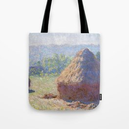 1891-Claude Monet-Haystacks, end of Summer-60 x 100 Tote Bag