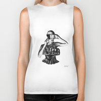 steve mcqueen Biker Tanks featuring McQueen by BrittanyJanet Illustration & Photography