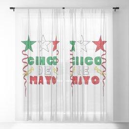 Cinco De Mayo Sheer Curtain