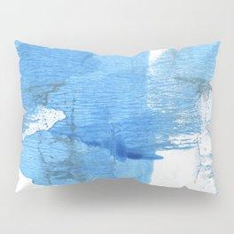 Corn flower blue hand-drawn wash drawing paper Pillow Sham