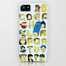 Simpsons Alphabet iPhone (5, 5s) Slim Case
