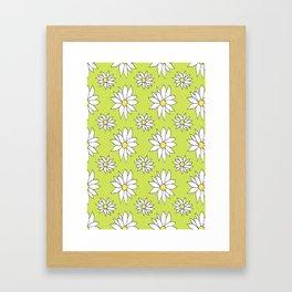 Fresh As A Daisy (Lime) Framed Art Print