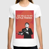 scarface T-shirts featuring Scarface Say Hello to My Little Friend by Florian Rodarte