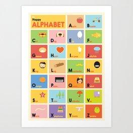 The Happy Alphabet Art Print