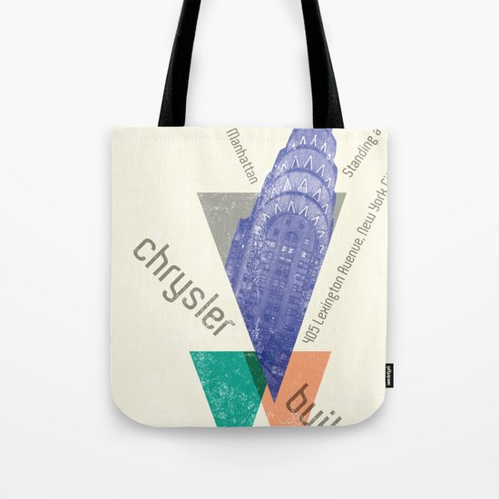 chysler building Tote Bag