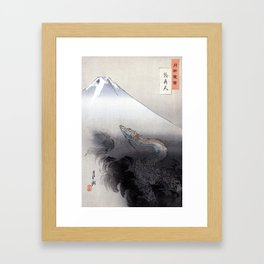 Ryū Shō Ten or Dragon Rising up to Heaven Framed Art Print