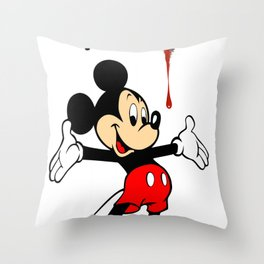 The Poorly Mouse Throw Pillow