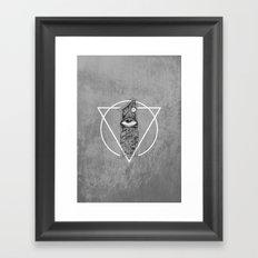 One Eyed Framed Art Print
