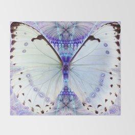 Lavender Lepidoptera Throw Blanket