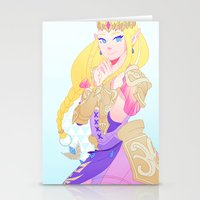 hyrule Stationery Cards featuring Hyrule Warriors Zelda by causticAntilogy
