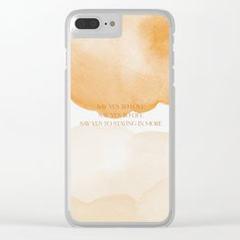 Say Yes To Love Liz Lemon 30 Rock Clear iPhone Case