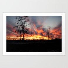 South Georgia Sky on Fire 4 Art Print