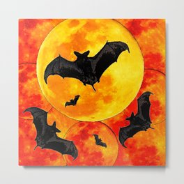 Bloody Halloween Night Metal Print