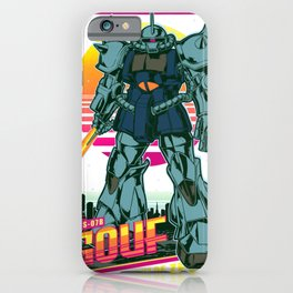 Gouf Gundam Retro iPhone Case
