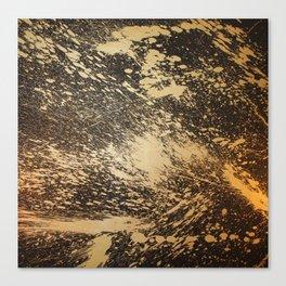Gold on Black Canvas Print