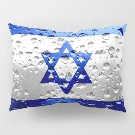 Flag of Israel - Raindrops Pillow Sham