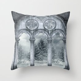 Gothic Winter Vault Throw Pillow
