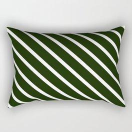 Avocado Skin Diagonal Stripes Rectangular Pillow
