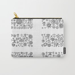Earth: Black and White Carry-All Pouch