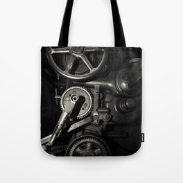 Machine Gears in Platinum Tote Bag