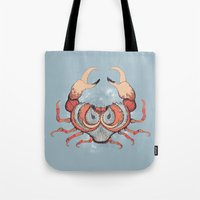 cancer Tote Bags featuring Cancer by Vibeke Koehler