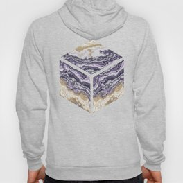 Purple and ochre marble texture Hoody