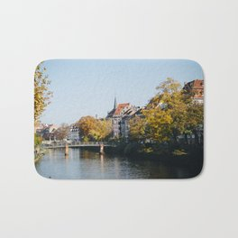Streets of Strasbourg Bath Mat